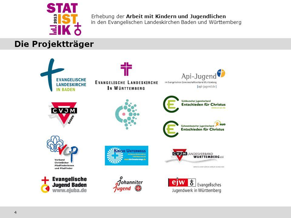 Erhebung der Arbeit mit Kindern und Jugendlichen in den Evangelischen Landeskirchen Baden und Württemberg 4 Die Projektträger