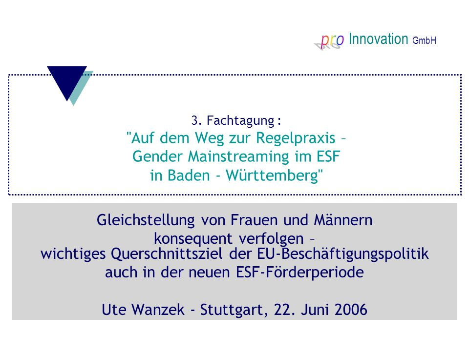 Innovation GmbH 3. Fachtagung :