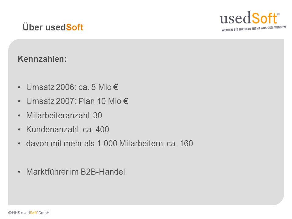 Das Produkt usedSoft kauft nicht mehr genutzte Softwarelizenzrechte, die zum Beispiel durch Arbeitsplatzabbau, Fusionen, Insolvenz oder Systemumstellungen entstehen und verkauft diese weiter.