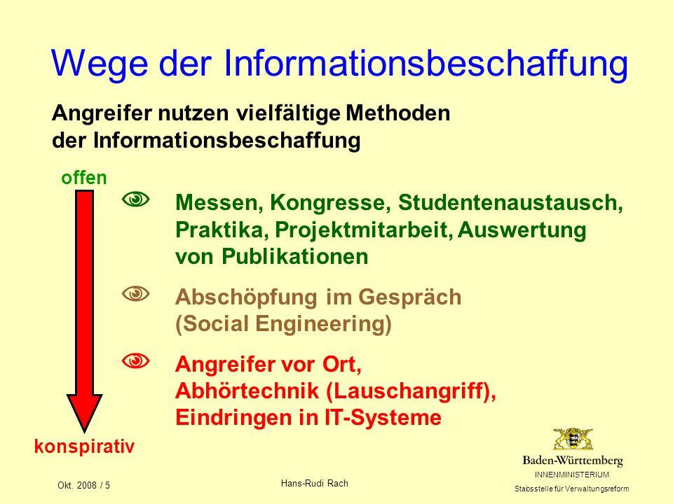 INNENMINISTERIUM Stabsstelle für Verwaltungsreform Okt.