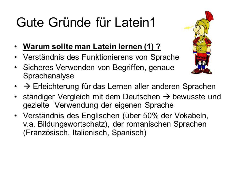 Gute Gründe für Latein1 Warum sollte man Latein lernen (1) .