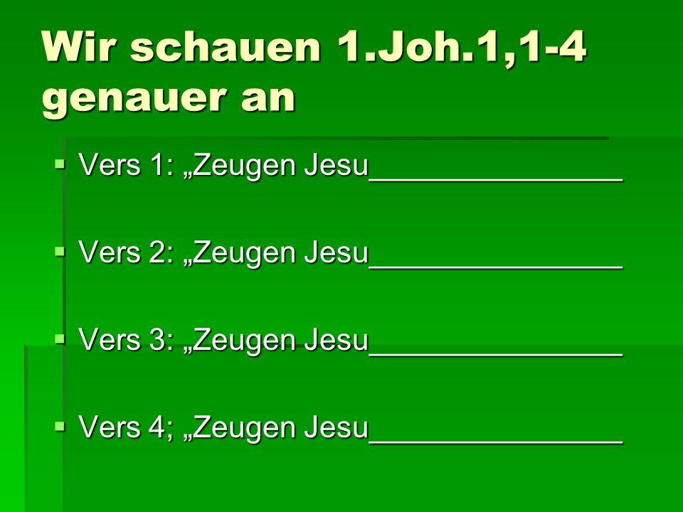 2.Verheißungen und Voraussetzungen Die unerschütterliche Gewissheit der eigenen Errettung 1.Joh.