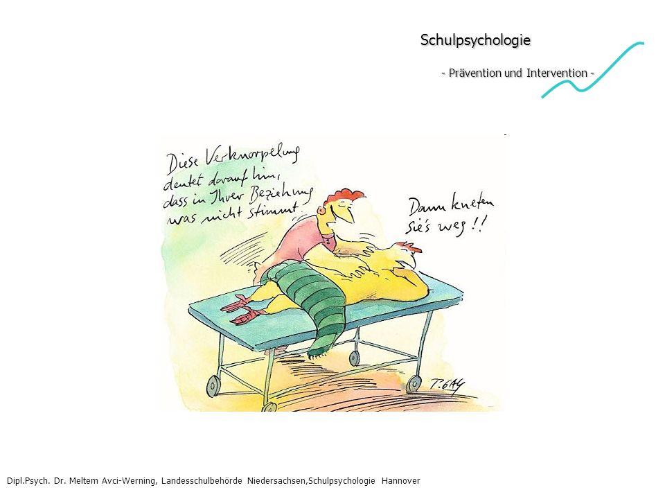 Schulpsychologie - Prävention und Intervention - Schulpsychologie - Prävention und Intervention - Dipl.Psych. Dr. Meltem Avci-Werning, Landesschulbehö