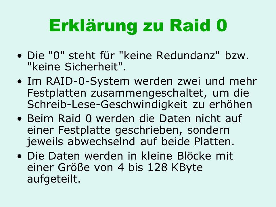 Erklärung zu Raid 0 Die