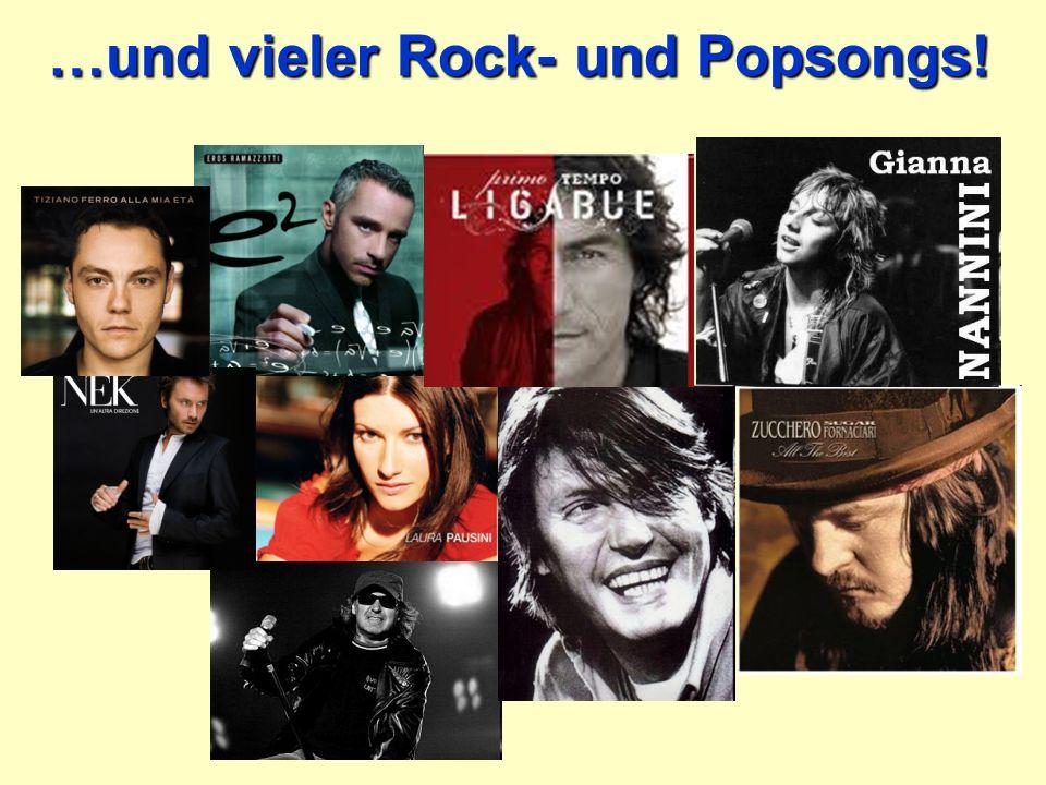 …und vieler Rock- und Popsongs!