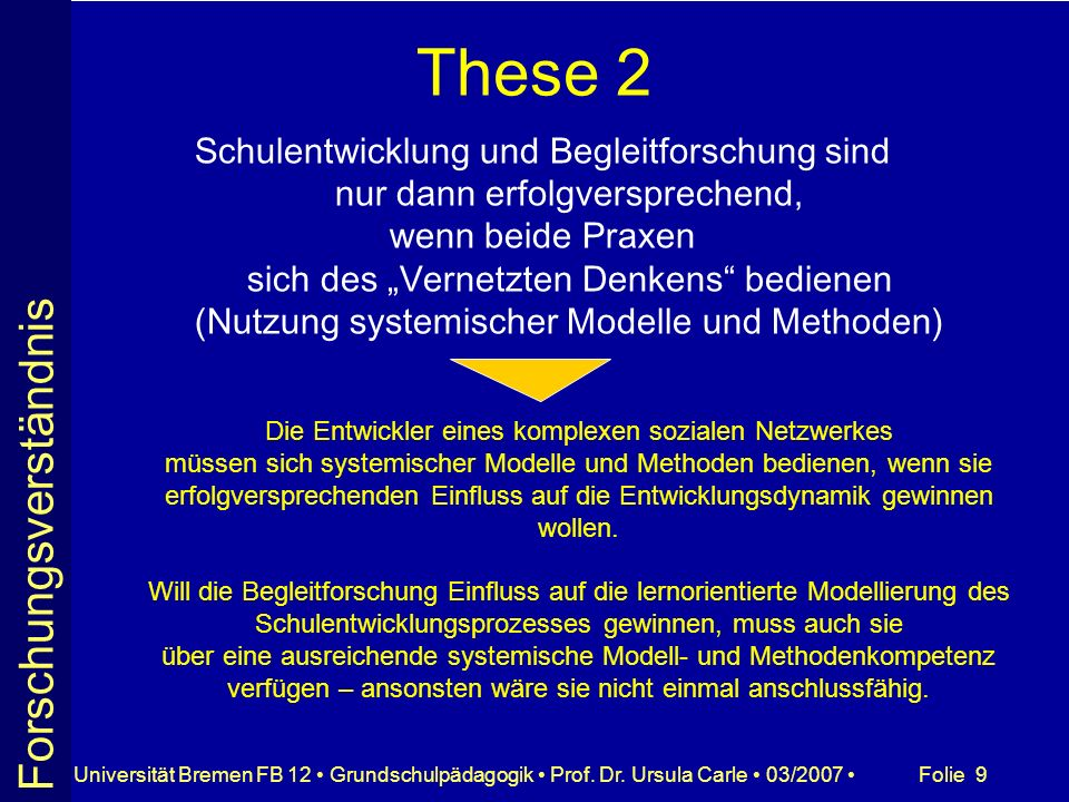 Folie 50Universität Bremen FB 12 Grundschulpädagogik Prof.