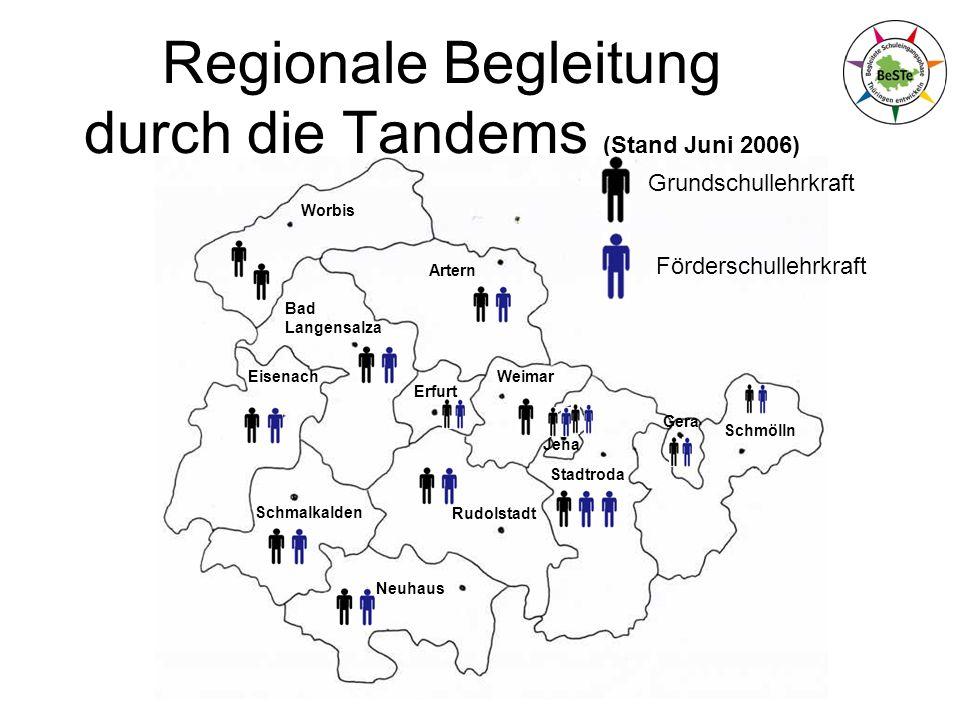 Schmalkalden Worbis Artern Bad Langensalza Eisenach Neuhaus Rudolstadt Erfurt Weimar Jena Stadtroda Gera Schmölln Regionale Begleitung durch die Tande