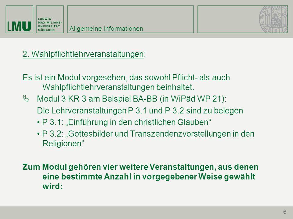 6 Allgemeine Informationen 2.