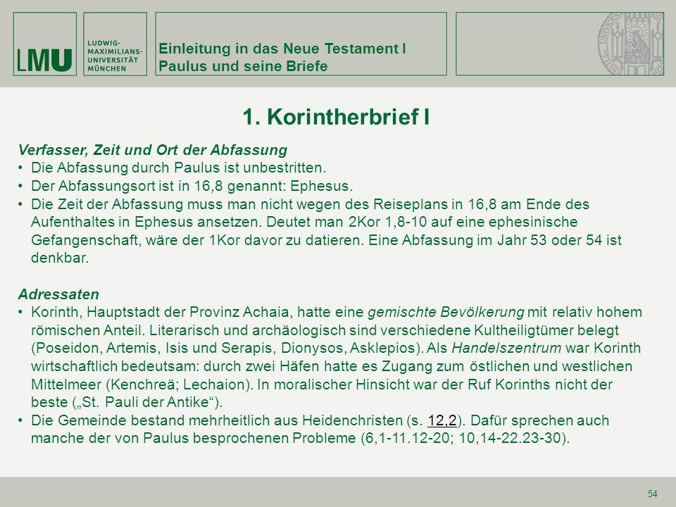 Einleitung in das Neue Testament I Paulus und seine Briefe 75 Kapp.