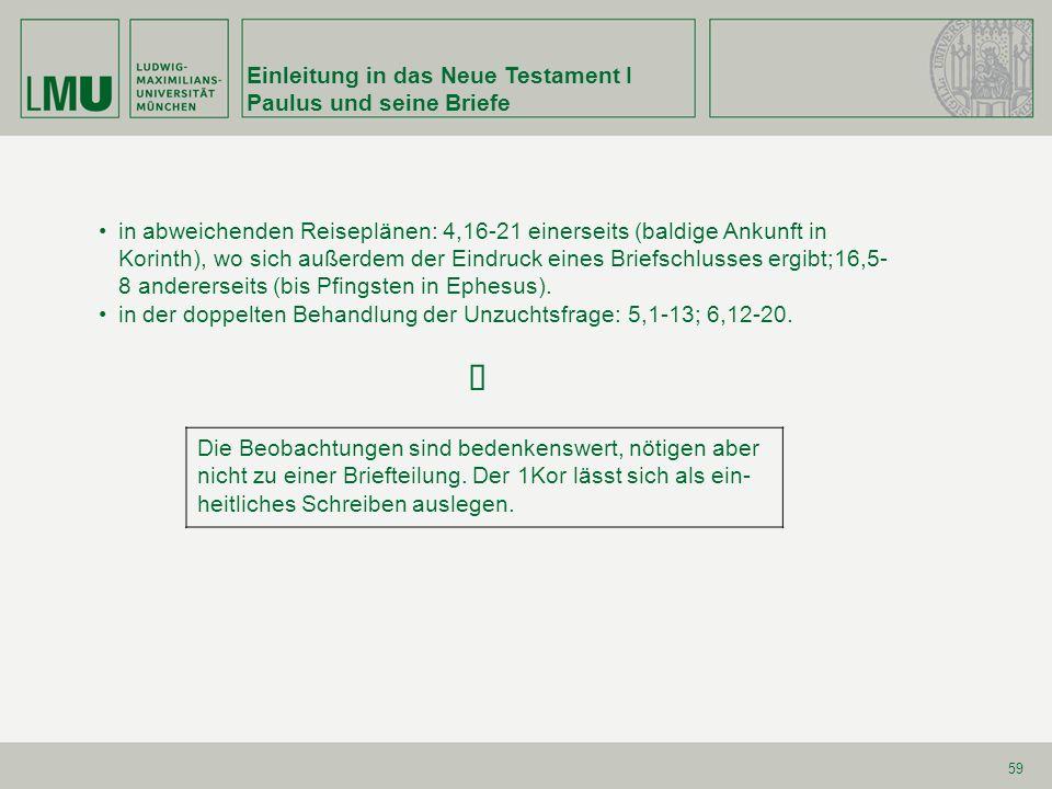 Einleitung in das Neue Testament I Paulus und seine Briefe 70 2.