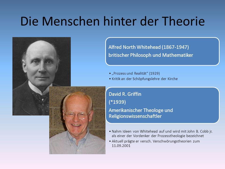 Die Menschen hinter der Theorie Alfred North Whitehead (1867-1947) britischer Philosoph und Mathematiker Prozess und Realität (1929) Kritik an der Sch