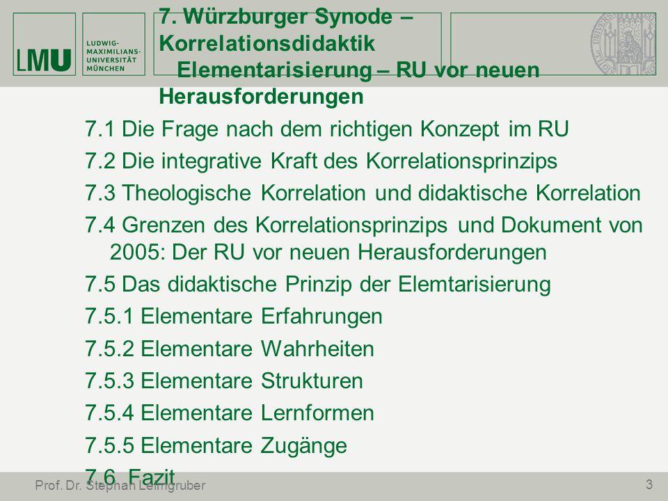 7.1 Die Frage nach dem richtigen Konzept im RU In der Geschichte hat es viele verschiedene Konzeptionen des RU gegeben.