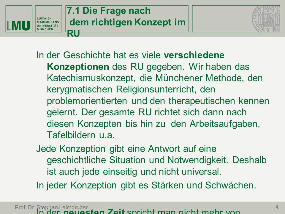 15 Prof.Dr. Stephan Leimgruber 7.5 Was heißt elementarisieren in der RU-Praxis.