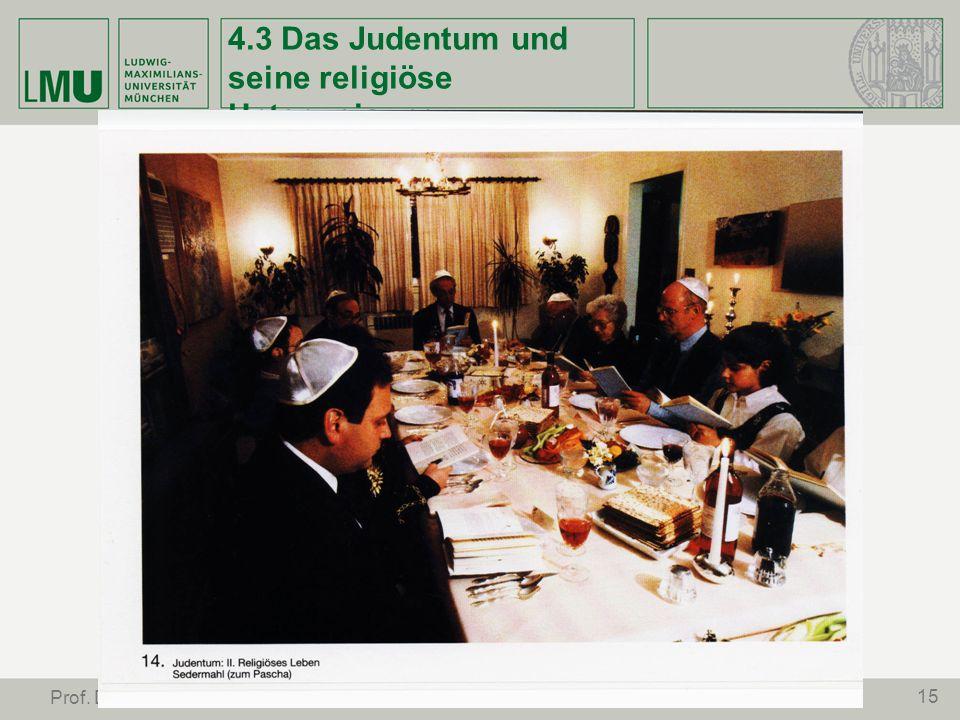 15 Prof. Dr. Stephan Leimgruber 4.3 Das Judentum und seine religiöse Unterweisung