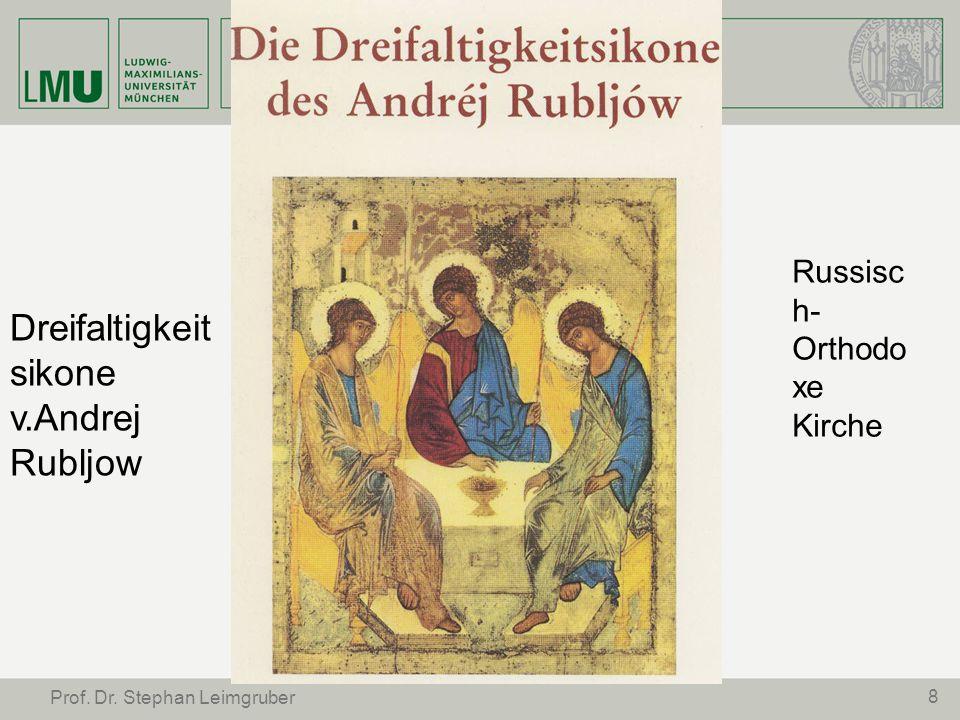 8 Russisc h- Orthodo xe Kirche Dreifaltigkeit sikone v.Andrej Rubljow