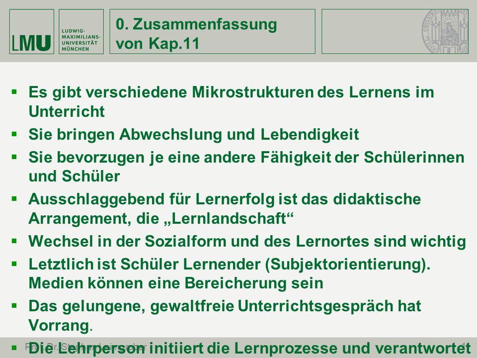 12 Prof.Dr. Stephan Leimgruber c) Wie kann im RU Kommunikation gefördert werden.