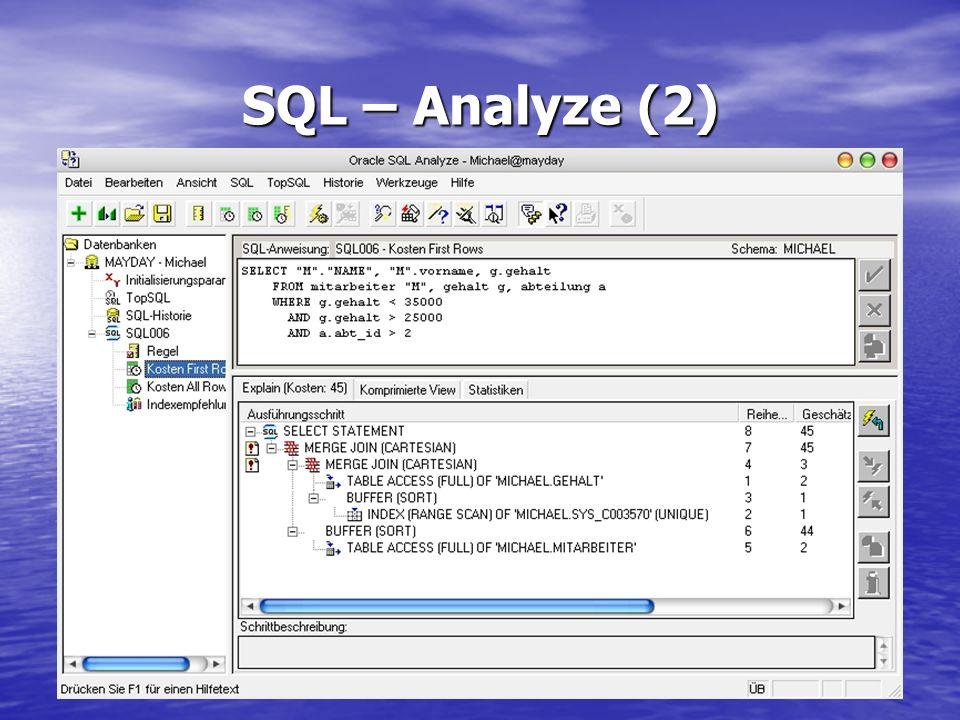 SQL – Analyze (2)