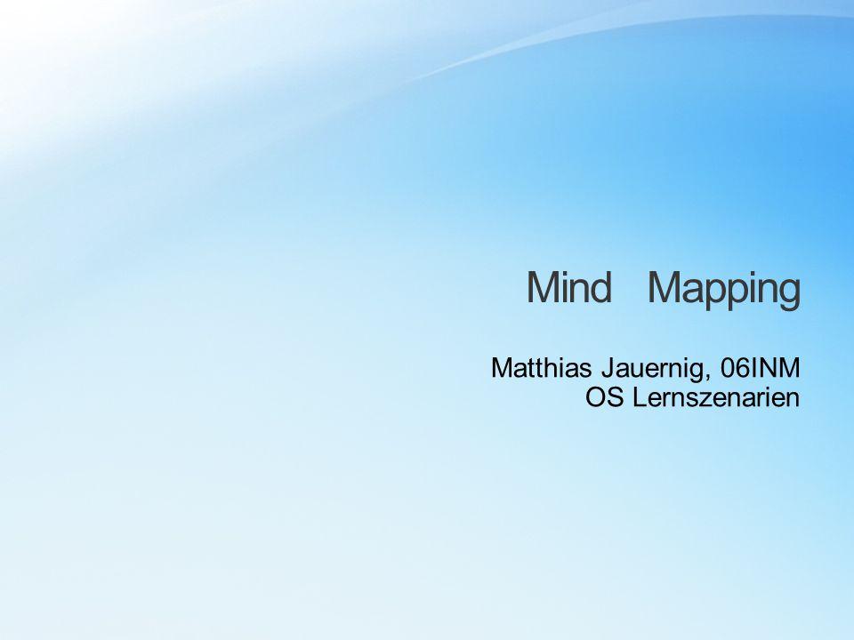 Mind Mapping Matthias Jauernig, 06INM OS Lernszenarien