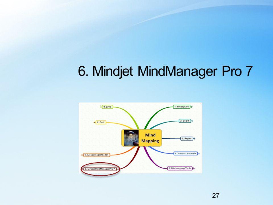 6. Mindjet MindManager Pro 7 27