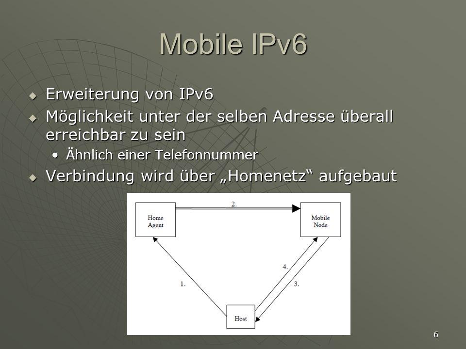 7 Umsetzung in der Praxis Neuere Betriebsysteme unterstützen IPv6 Neuere Betriebsysteme unterstützen IPv6 Windows XP vollständig seit SP2Windows XP vollständig seit SP2 Linux seit Kernel 2.6.Linux seit Kernel 2.6.