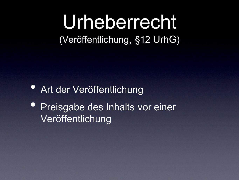 Urheberrecht (Freie Benutzung, §24 UrhG ) ein fremdes Werk keine Zustimmung nötig Quellenangabe (§63 UrhG)