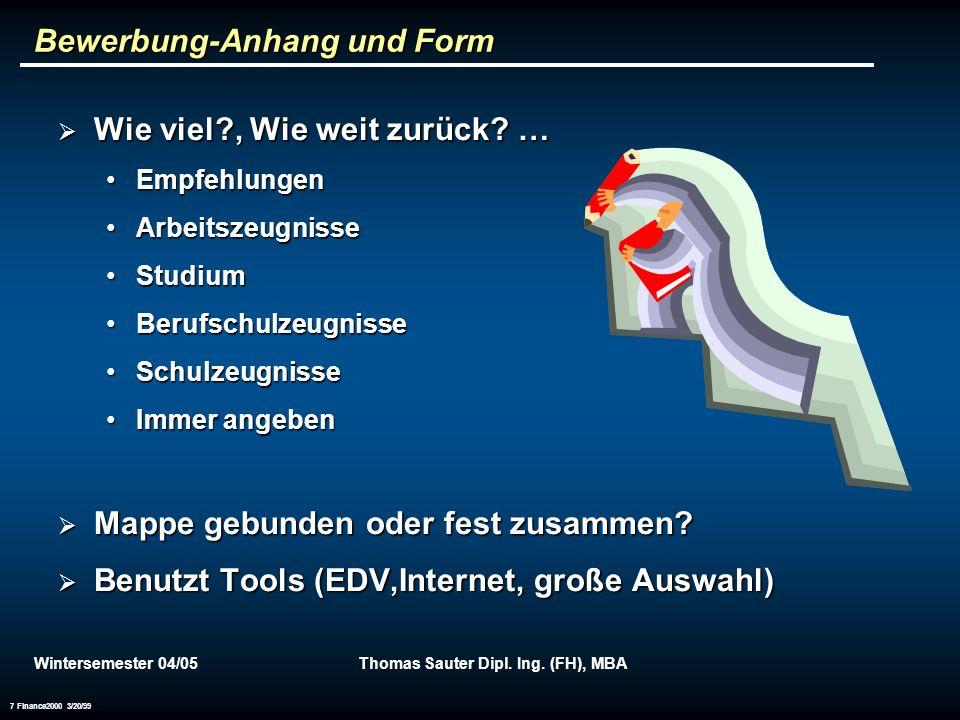 Wintersemester 04/05Thomas Sauter Dipl.Ing.