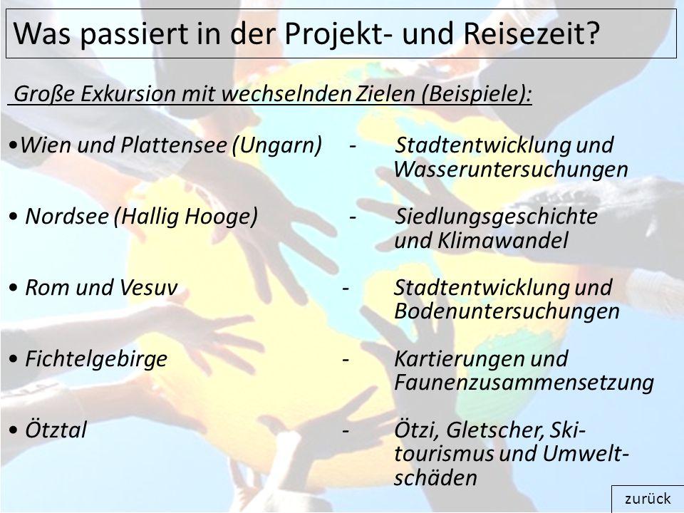 Große Exkursion mit wechselnden Zielen (Beispiele): Wien und Plattensee (Ungarn) - Stadtentwicklung und Wasseruntersuchungen Nordsee (Hallig Hooge) -