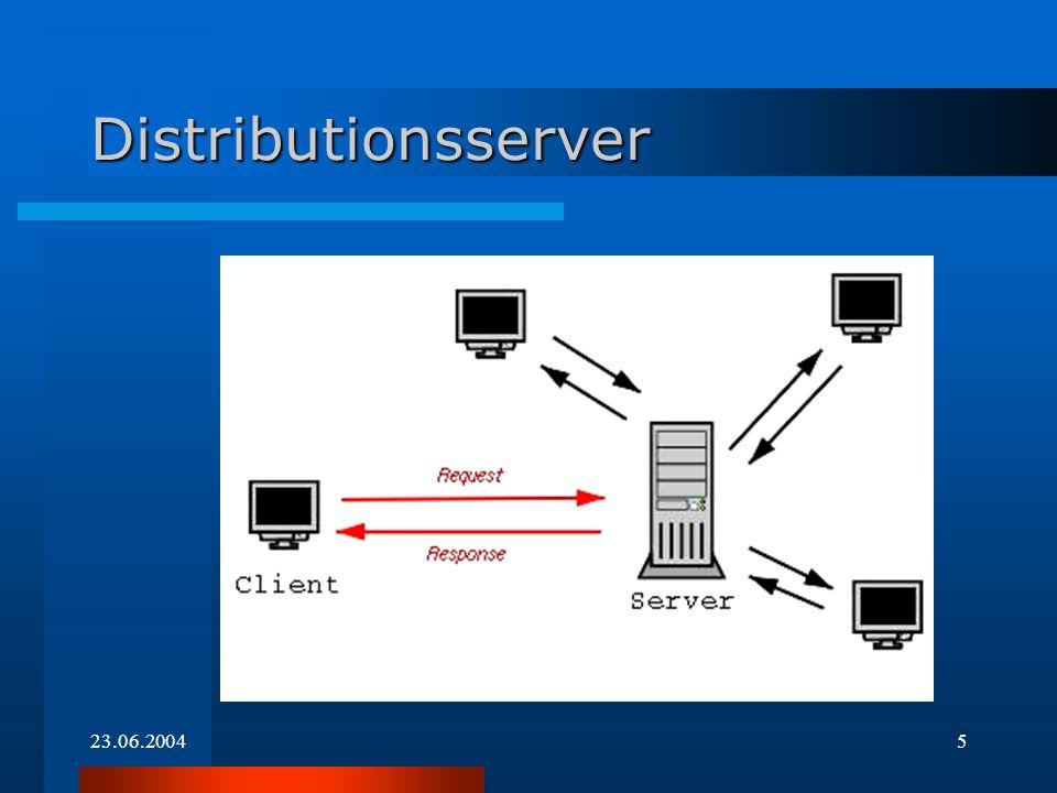 23.06.20044 Installation über LAN Mit einem DOS-Netzwerk-Client wird eine Netzwerkverbindung zu einem Distributionsserver hergestellt Mit einem DOS-Netzwerk-Client wird eine Netzwerkverbindung zu einem Distributionsserver hergestellt Anschließend führt der Rechner die Installation automatisch durch Anschließend führt der Rechner die Installation automatisch durch