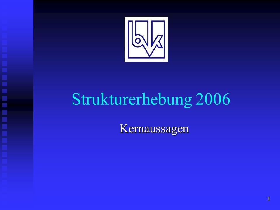 1 Strukturerhebung 2006 Kernaussagen