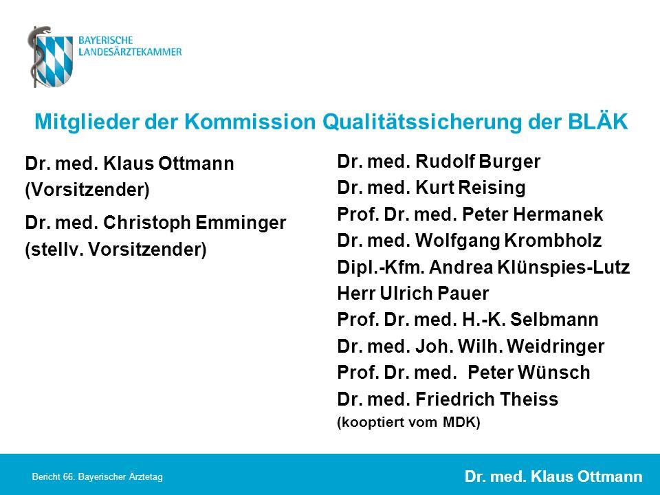 Dr. med. Klaus Ottmann Bericht 66. Bayerischer Ärztetag Dr. med. Klaus Ottmann (Vorsitzender) Dr. med. Christoph Emminger (stellv. Vorsitzender) Dr. m