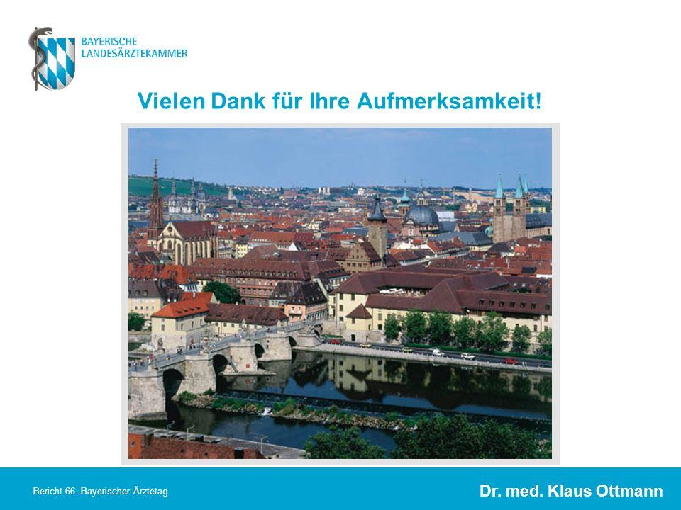 Dr. med. Klaus Ottmann Bericht 66. Bayerischer Ärztetag Vielen Dank für Ihre Aufmerksamkeit!