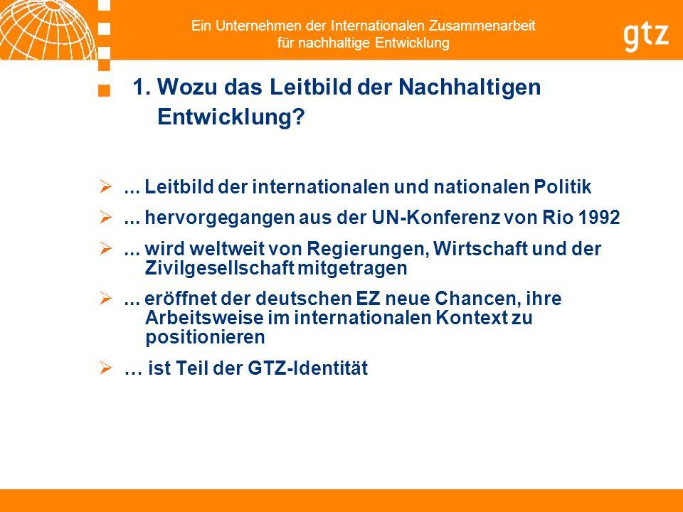 Ein Unternehmen der Internationalen Zusammenarbeit für nachhaltige Entwicklung 2.