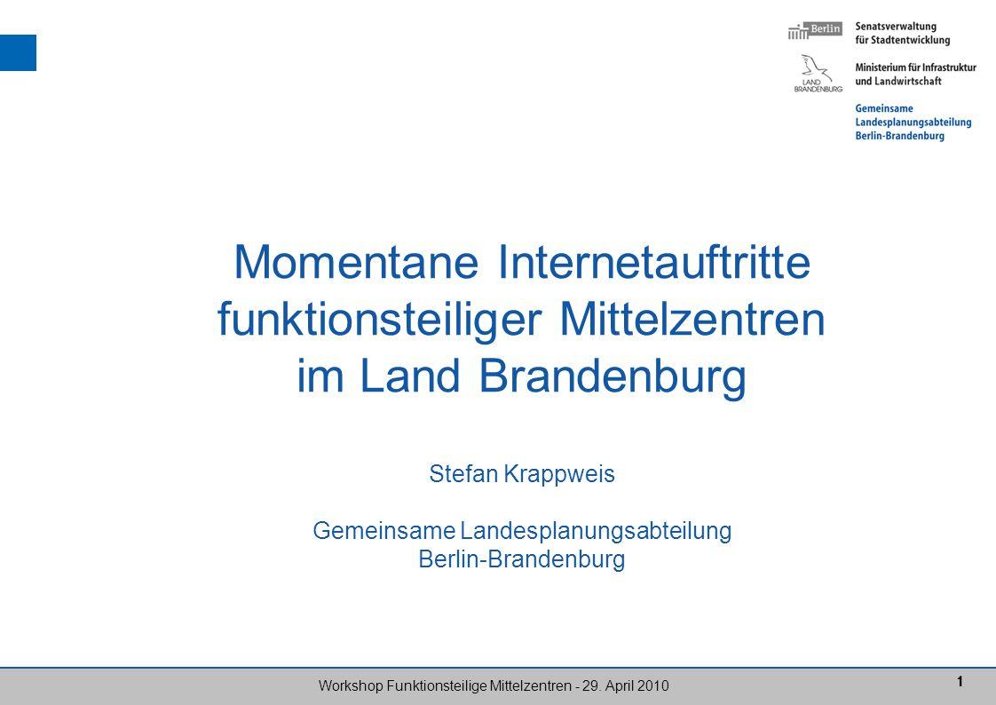 22 Workshop Funktionsteilige Mittelzentren - 29.