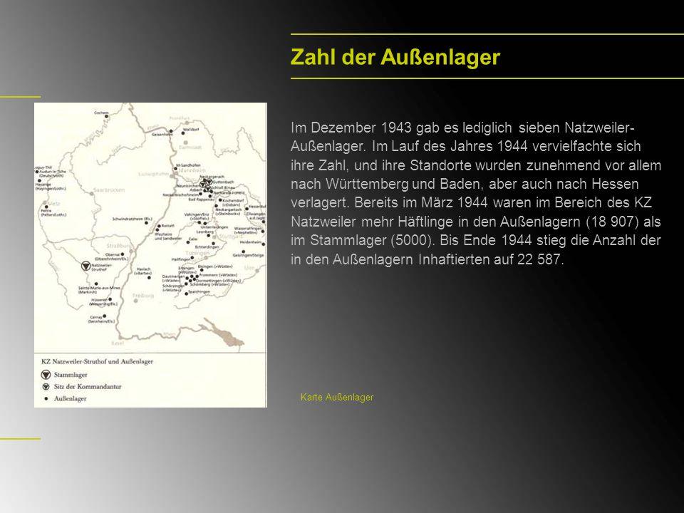 Vaihingen/Enz Das Außenlager Wiesengrund wurde im Frühsommer 1944 errichtet; am 9.8.1944 trafen 2189 Häftlinge aus Auschwitz ein.