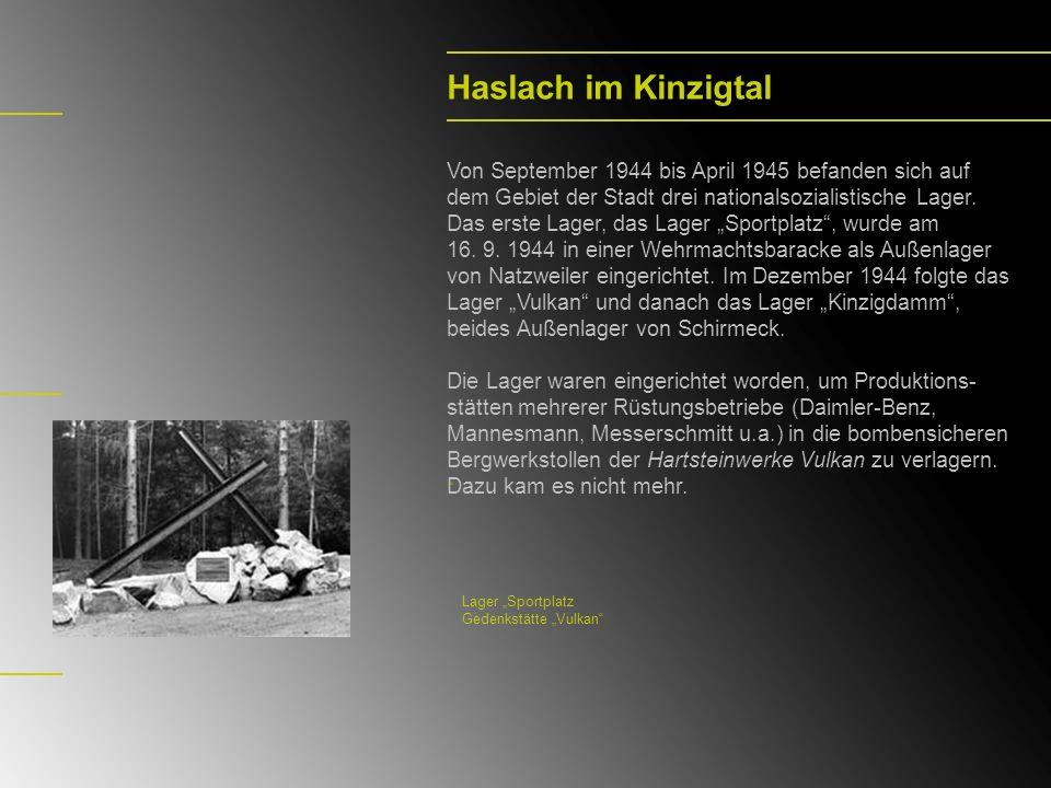 Leonberg Vom April 1944 bis April 1945 gab es in der oberen Seestraße in Leonberg ein von der SS geführtes Außenlager des KZ Natzweiler.