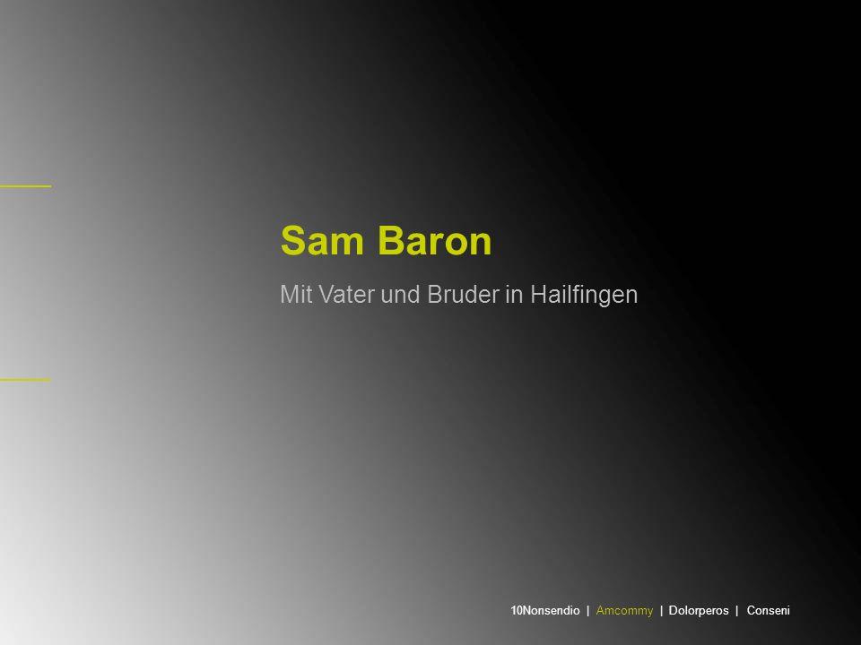 Als Kind ins Ghetto Sam Baron (Salomon Abrahamovitz) wurde am 27.