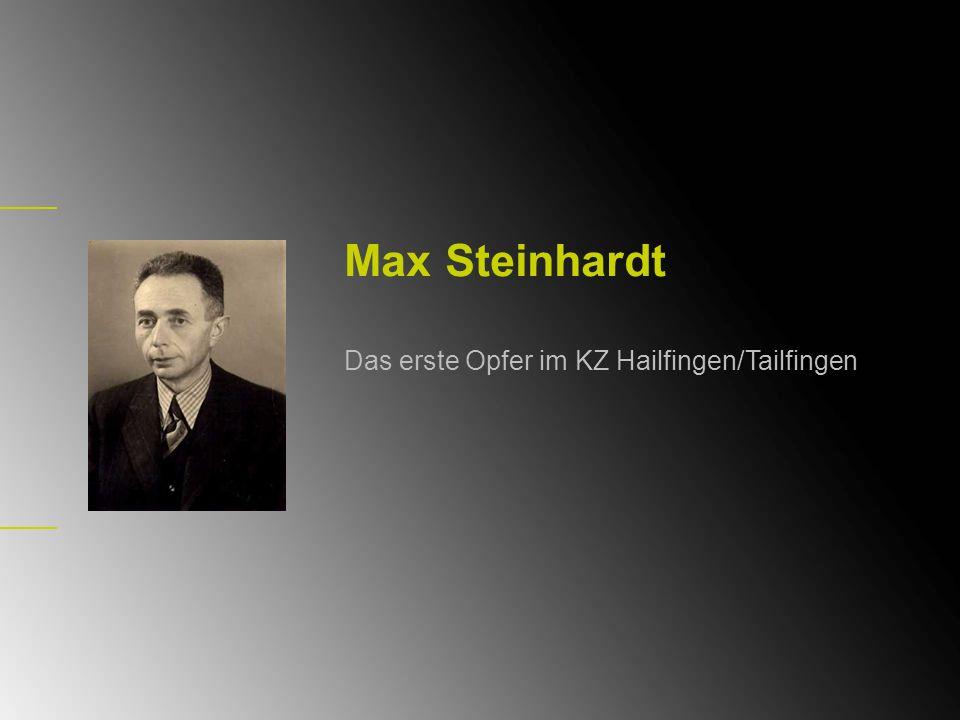 Soldat im Ersten Weltkrieg Max Steinhardt wurde am 8.12.1896 in Witzenhausen geboren.
