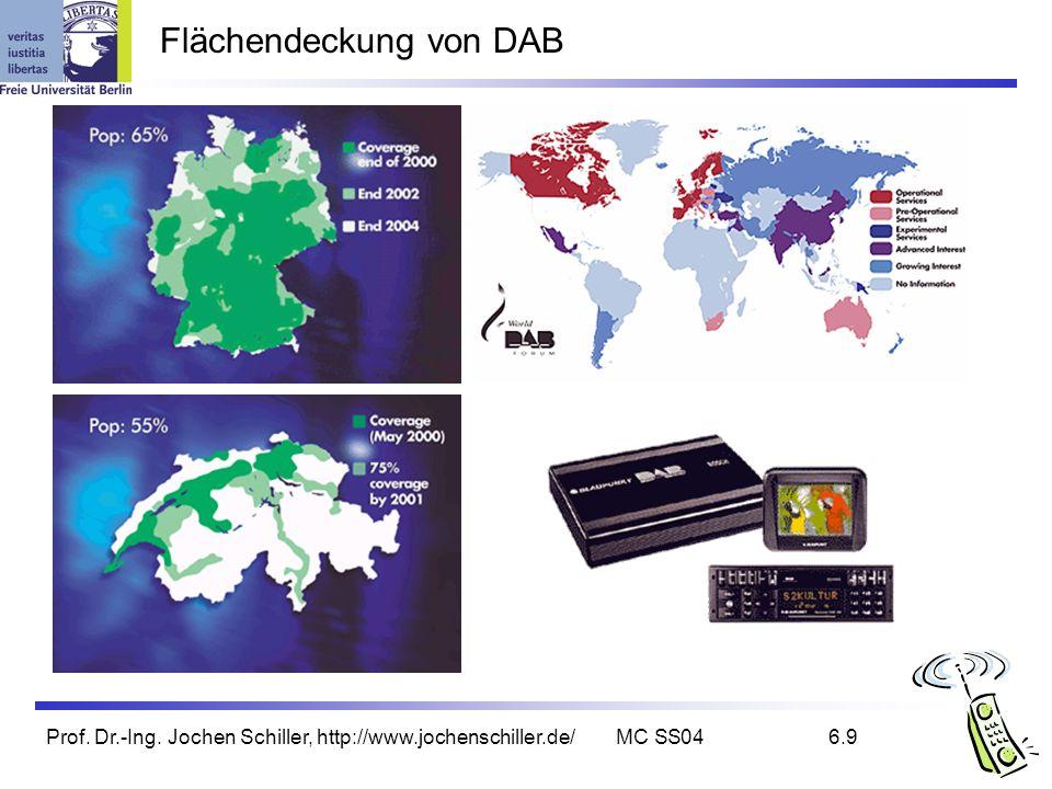 Prof. Dr.-Ing. Jochen Schiller, http://www.jochenschiller.de/MC SS046.9 Flächendeckung von DAB
