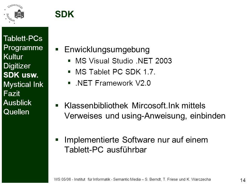 WS 05/06 - Institut für Informatik - Semantic Media – S.