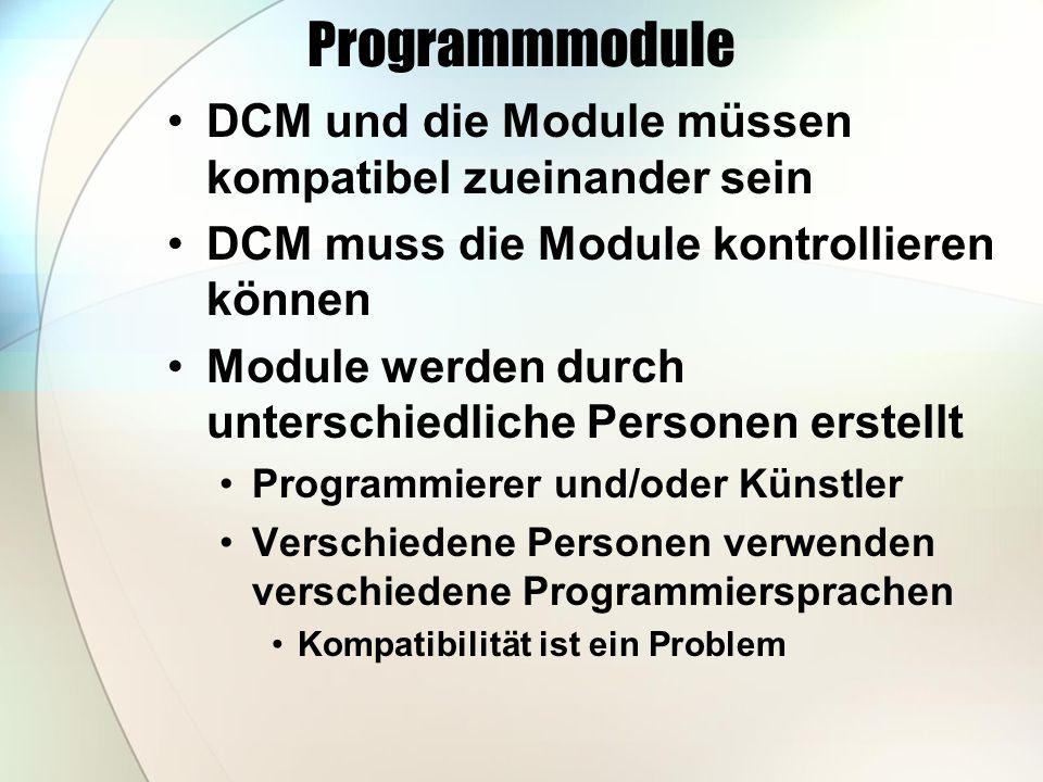 Eine Plattform Eine Plattform, Weil Module müssen kompatibel sein Die jedem seine Programmiersprache zugesteht Leistet derzeit nur.NET Jeder kann seine Programmiersprache verwenden C#, C++, VB.NET, J# (Java), Pascal, S# (SmallTalk) und mindestens 20 weitere Module unter.NET heißen Assemblies und sind alle kompatibel untereinander