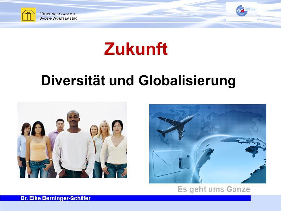 Dr. Elke Berninger-Schäfer Es geht ums Ganze Zukunft Diversität und Globalisierung