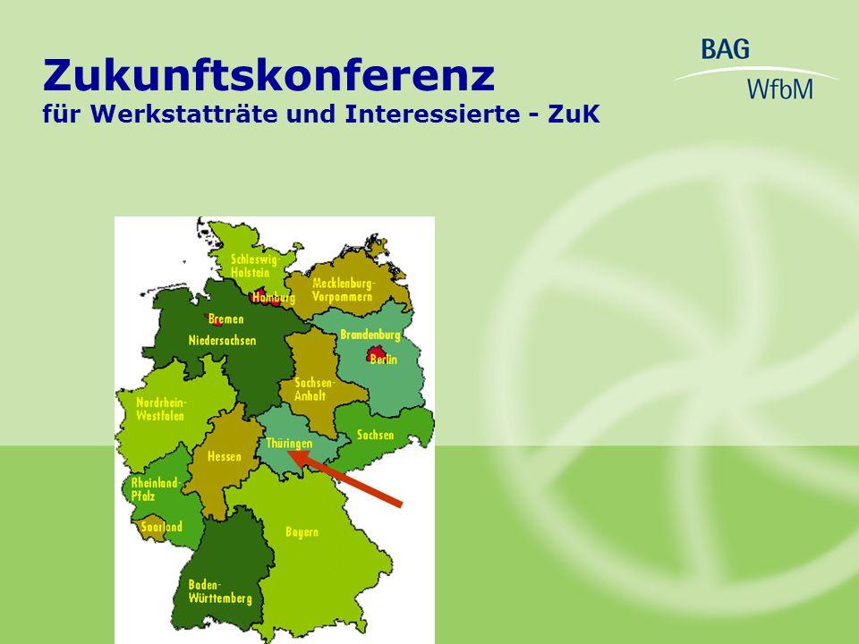 Zukunftskonferenz für Werkstatträte und Interessierte - ZuK