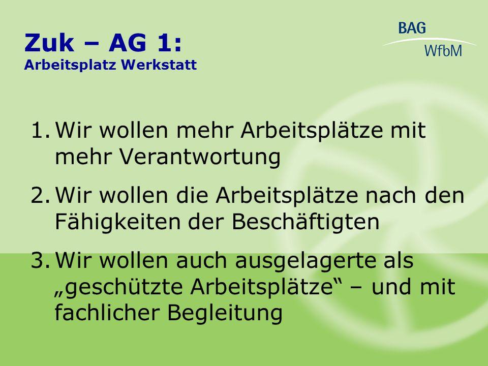 3.Werkstatträte fordern Informationen - in einfacher Sprache, - in Blindenschrift, - mit Bildern, - die Werkstätten-Mitwirkungsverordnung in neuer, einfacher Fassung – auch als Datei Zuk – AG 4: Beteiligung in der Werkstatt