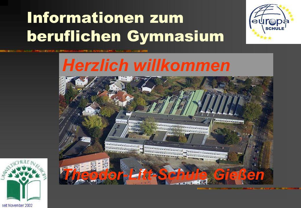 Informationen zum beruflichen Gymnasium Theodor-Litt-Schule Gießen Herzlich willkommen