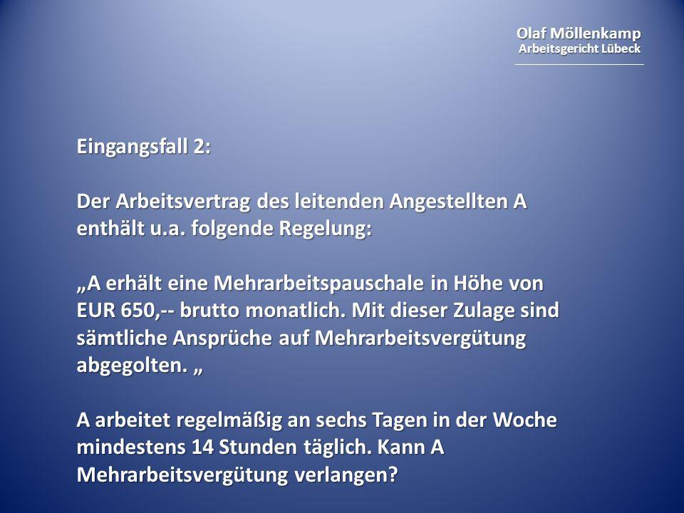 Olaf Möllenkamp Arbeitsgericht Lübeck Sozialschutz nach § 1 Abs.