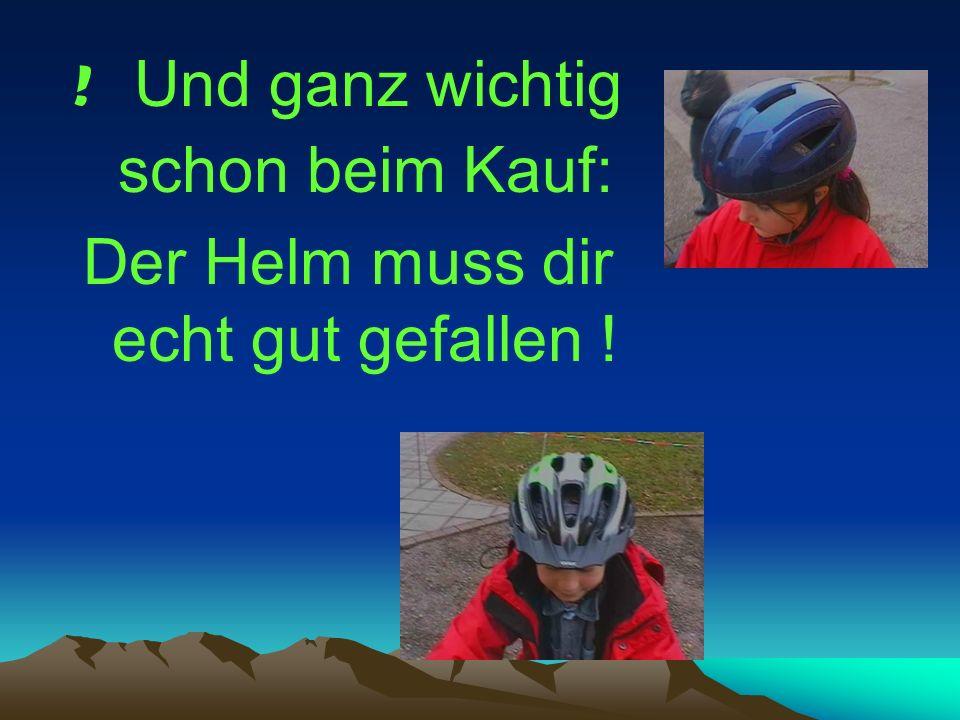 Helme braucht man nicht nur beim Fahrrad sondern auch beim Motorrad fahren, Mofa und Motorroller.