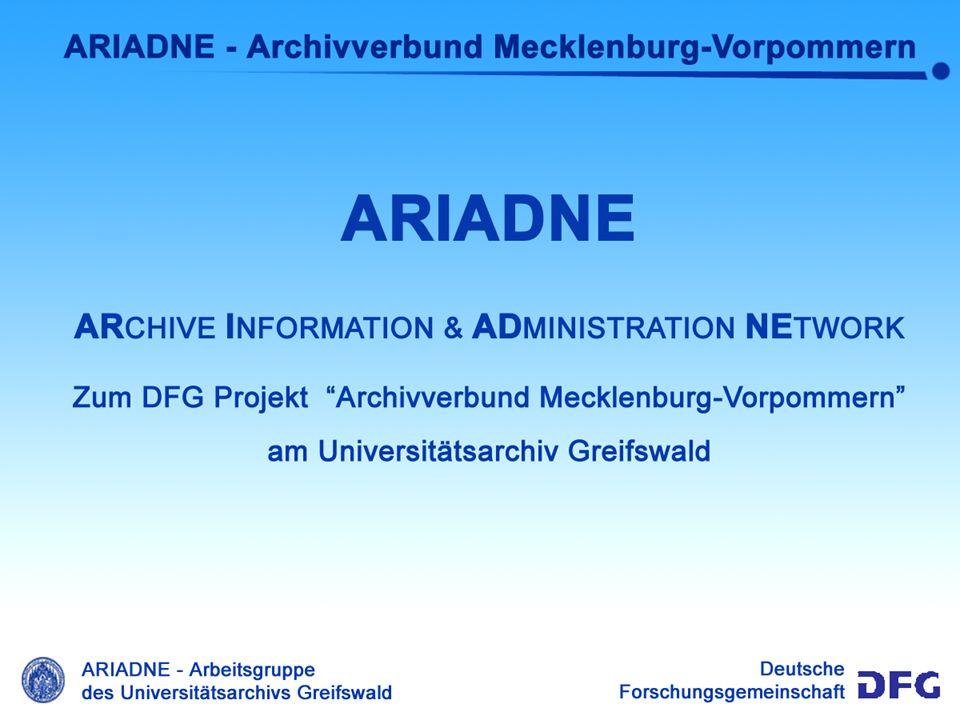 Benutzermodell Das Benutzermodell von ARIADNE - Die Mitarbeiter eines Archivs werden unter Ariadne durch Benutzer repräsentiert, die zu Benutzergruppen zusammen gefaßt werden.