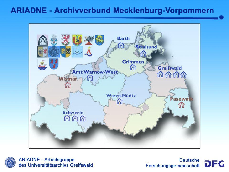 Ariadne Überblick Überblick ARIADNE Das ARIADNE-System ist eine Anwendung zur Verzeichnung von Archivbeständen und deren Recherche in lokalen Netzen wie auch im Internet Das ARIADNE-System wird am Universitätsarchiv Greifswald entwickelt und das Projekt durch die Deutsche Forschungsgemeinschaft DFG gefördert.