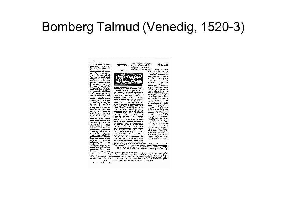Bomberg Talmud (Venedig, 1520-3)
