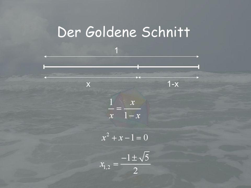 Der Goldene Schnitt 1 x1-x